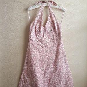 J. Crew halter dress. Pink tones, size 10.